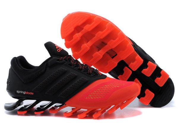 Кроссовки Adidas Springblade мужские черно-оранжевые
