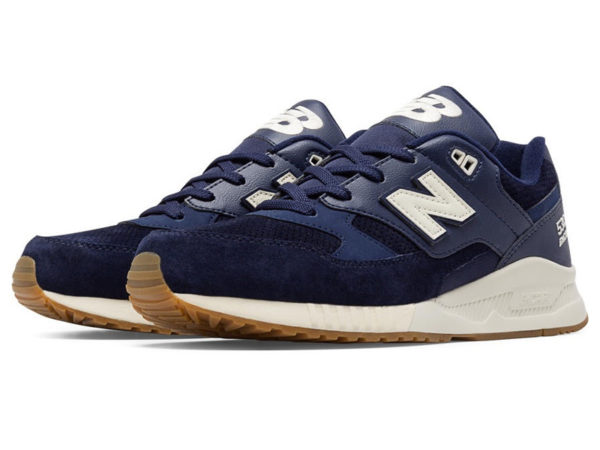New Balance 530 темно-синие с белым (40-45)