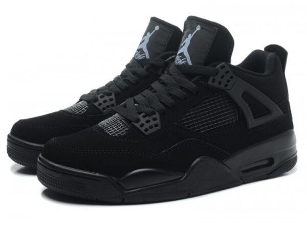 Nike Air Jordan 4 Retro черные (35-45)