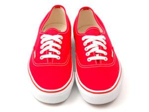 Кеды Vans Authentic женские красные - фото спереди