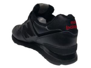 Зимние New Balance 574 Leather черные - фото сзади