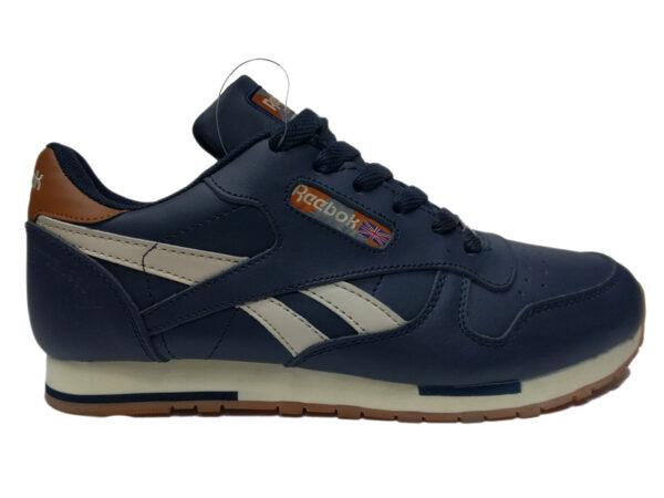 Зимние Reebok Classic Leather темно-синие с белым