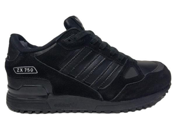 Adidas ZX 750 на меху черные (40-46)