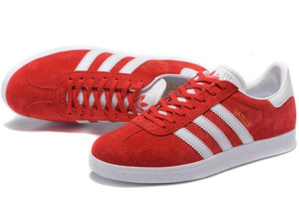 Adidas Gazelle красные с белым (35-45)