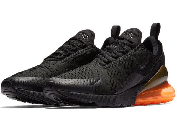 Nike Air Max 270 черные с оранжевым (40-45)