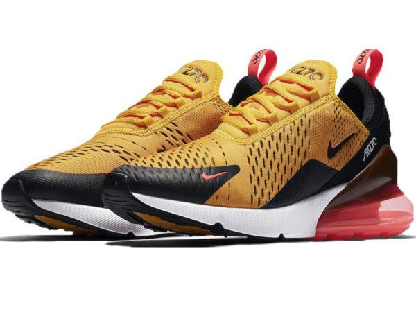 Nike Air Max 270 желтые с черно-красным (40-45)