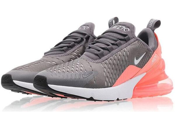 Nike Air Max 270 серые с розовым (35-40)