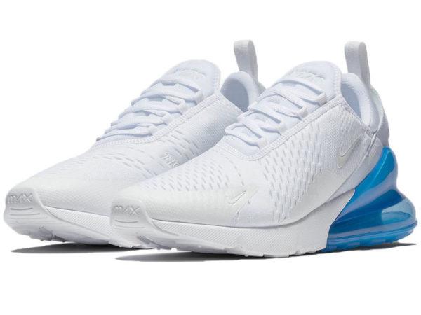 Nike Air Max 270 белые с голубым (35-40)