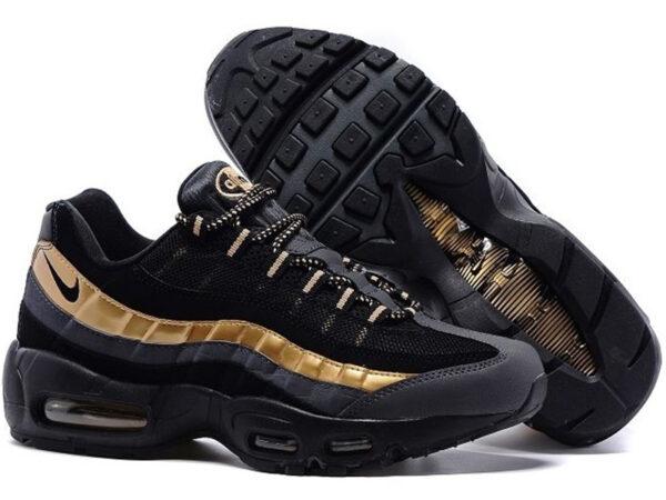 Nike Air Max 95 черные с золотым (35-45)