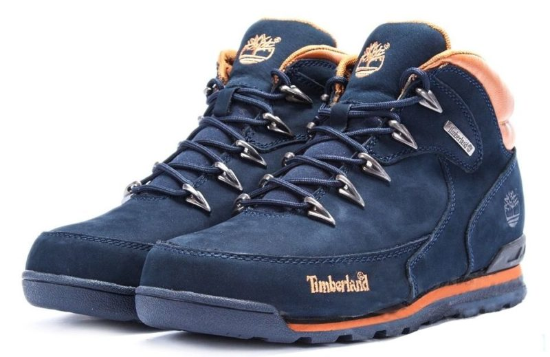 Ботинки Timberland Euro Sprint 2 Blue нубук с мехом синие 41-46