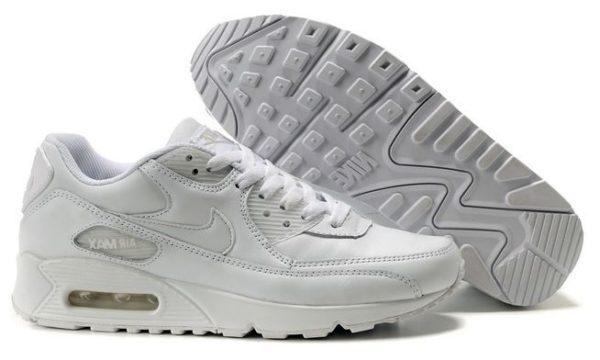 Зимние Nike Air Max 90 с мехом White белые (35-44)