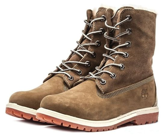 Ботинки Timberland Teddy Fleece brown 35-40