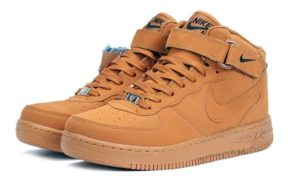 Зимние Nike Air Force 1 Mid с мехом коричневые 40-45