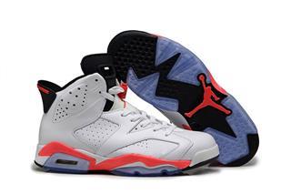 Nike Air Jordan 6 белые с красным (40-44)