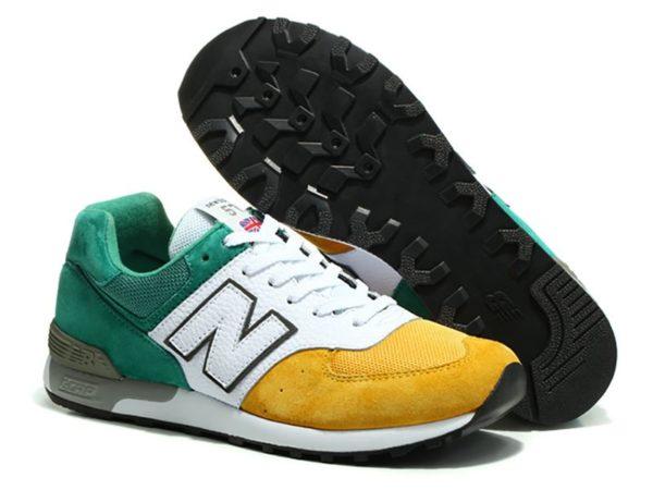New Balance 576 зелено-бело-желтые (39-45)