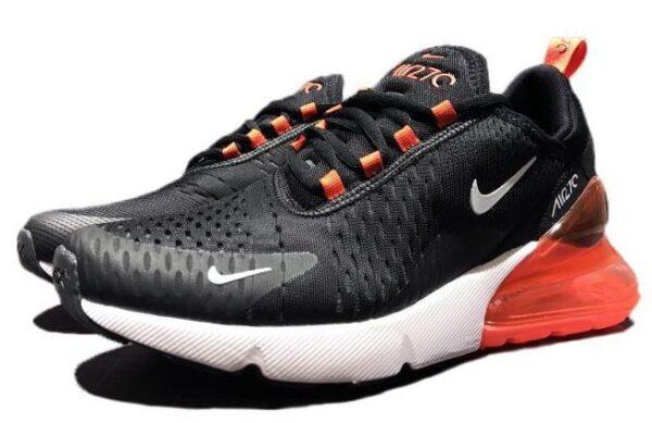 Nike Air Max 270 черно-белые с оранжевым (35-44)