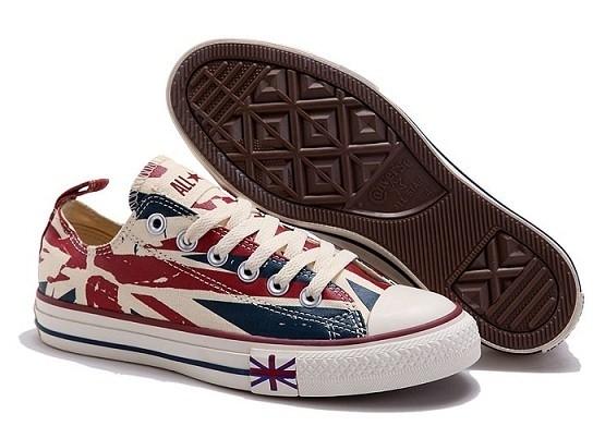 Converse All Star низкие британский флаг (35-39)