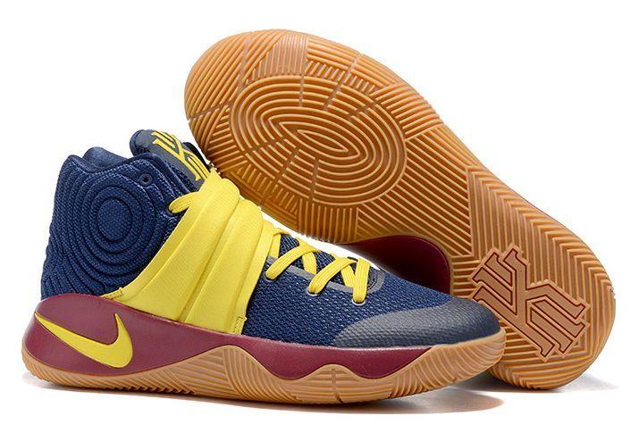 Nike Kyrie 2 blue yellow синие с желтым