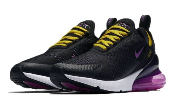 Nike Air Max 270 черные с фиолетовым (35-40)