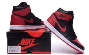 Nike Air Jordan 1 Retro (Black/Red) Черно-красные 41-44