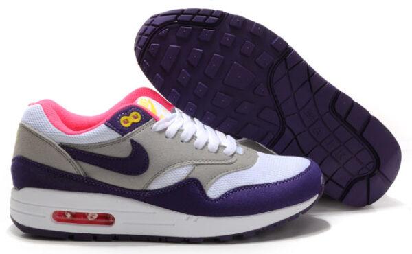 Nike Air Max 87 серо-фиолетовые (35-38)