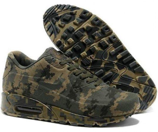 Nike Air Max 90 камуфляж темно-зеленые (40-45)