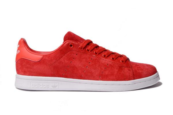 Adidas Stan Smith красные замша (40-45)