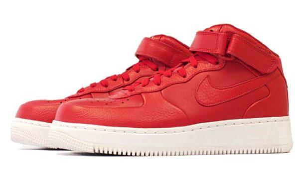 Nike Air Force 1 Lab mid красные (35-44)