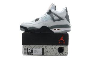 Nike Air Jordan 4 белые с серым (40-45)