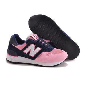 New Balance 670 замша-сетка розовый с синим (35-39)
