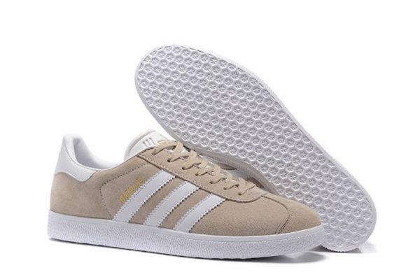 Adidas Gazelle бежевые с белым (35-39)