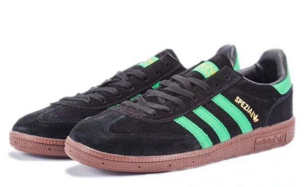Adidas Spezial черные с зеленым (39-44)