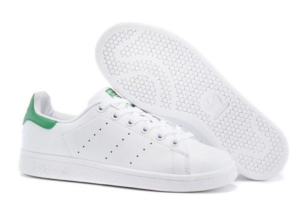 Adidas Stan Smith белые с зеленым (35-44)