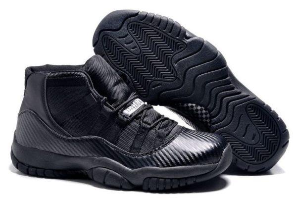 Nike Air Jordan 11 Retro черные (All Black) (40-45)