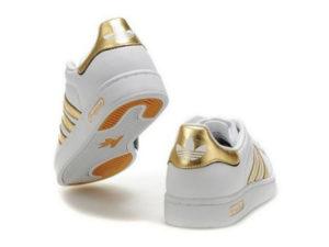 Adidas Superstar белые с золотым (35-40)
