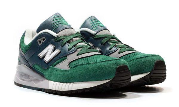 New Balance 530 зеленые с серым и синим (40-44)