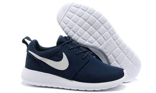 Nike Roshe Run синие с белым (39-44)