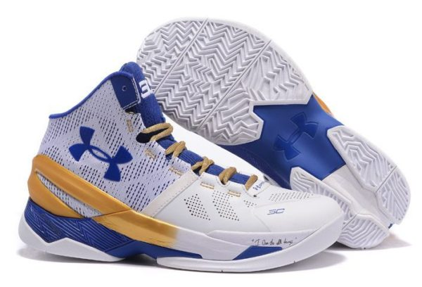Under Armour Curry 2 белые с синим и золотым (40-45)