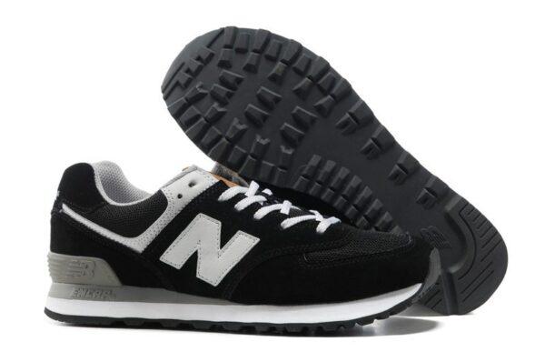 New Balance 574 черные с белым (35-45)