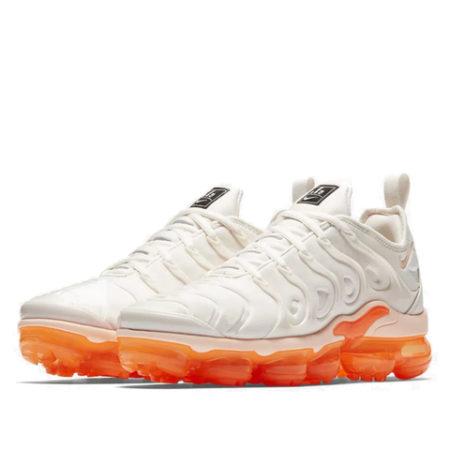 Nike Air VaporMax Plus TN белые с оранжевым 36-40