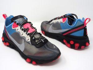 Nike React Element 87  серые с синим (40-44)