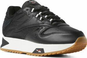 Кроссовки Reebok Classic leather кожаные black чёрные (35-39)