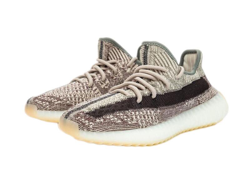 "Adidas Yeezy Boost 350 V2 ""Zyon"" серо-коричневые (35-44)"