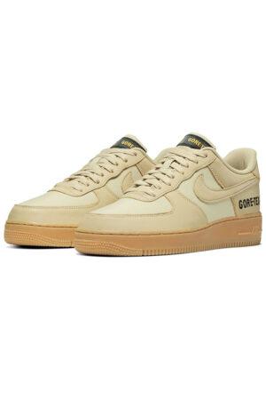 Nike Air Force 1 Low Gore-Tex бежевые кожаные мужские (40-44)