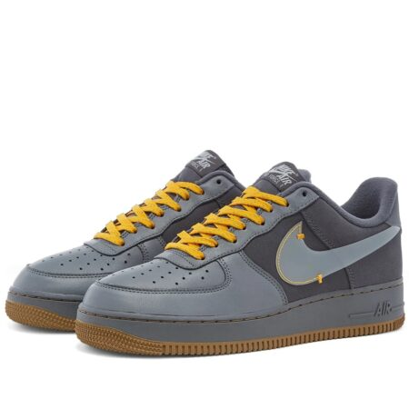 Nike Air Force 1 Low Gore-Tex серые кожа-замша мужские (40-44)