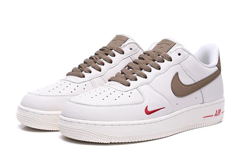 Nike Air Force 1 LV8 белые с коричневым (40-44)