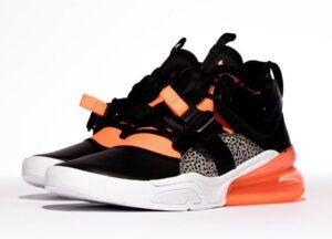 Nike Air Force 270 черные-серые-оранжевые (40-44)