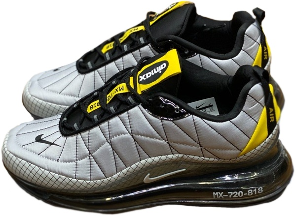 Nike Air Max 720 818 серые с желтым (40-44)