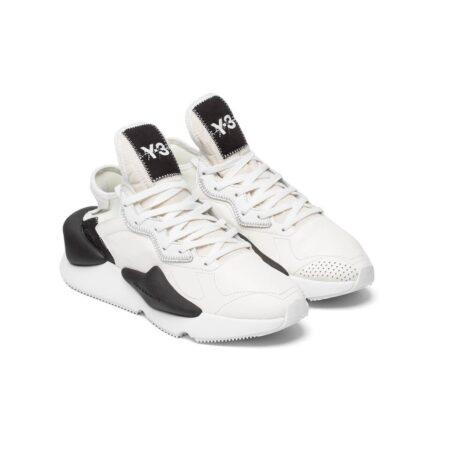 Adidas Y-3 белые с черным кожаные мужские (40-44)