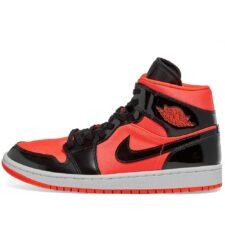 Nike Jordan 1 Mid Bright  красно-черные (40-45)